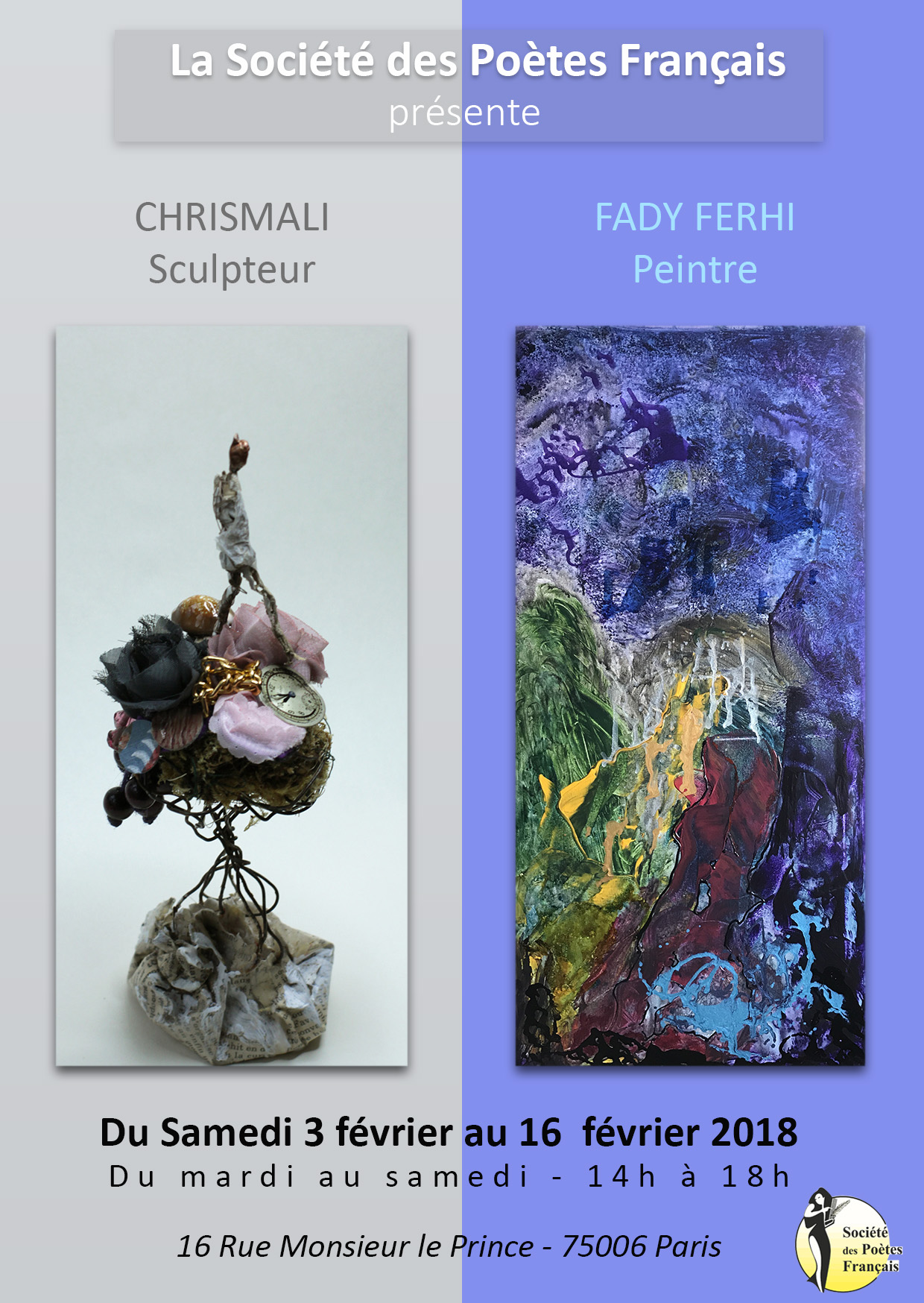 Sculpteur Peintre Et Poete Francais exposition : exposition fady ferhi, artiste peintre et