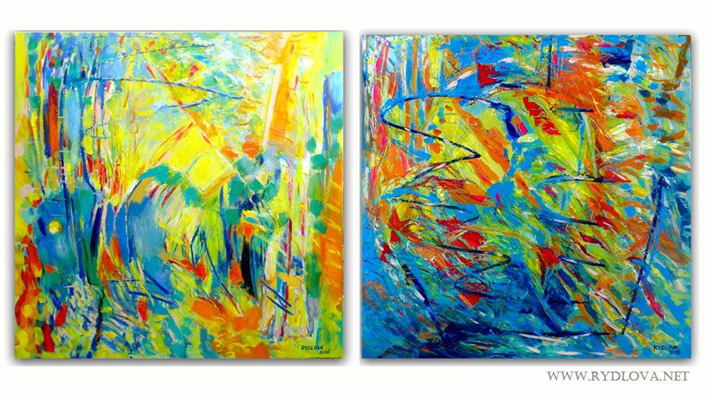 peinture-abstraite-fraicher-printaniere-bleu-mediterrane-rydlova-expo